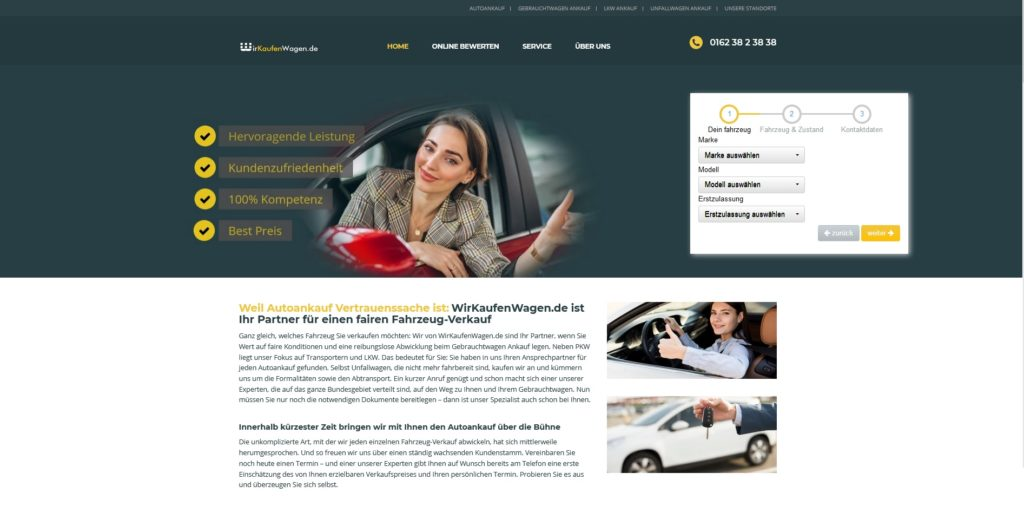 Auto verkaufen in Raeren - wir Kaufen jeden Wagen Raeren